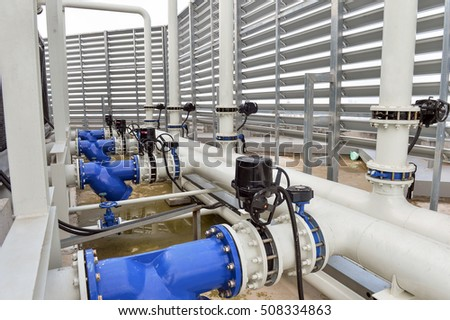 cool water pump and pipe line for make reduce temperature condition in hvac systems - Hvac Systems