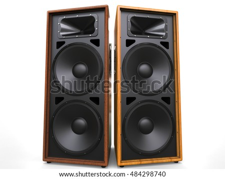 Cool Speaker Boxes speakers boxes audio music concert two stock illustration