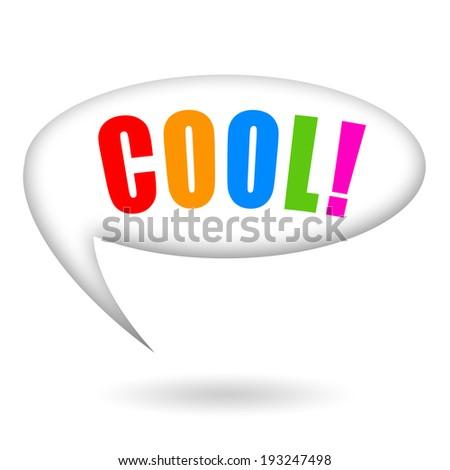 Cool word speech bubble - stock photo