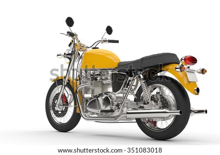 Cool Yellow Bike - stock photo
