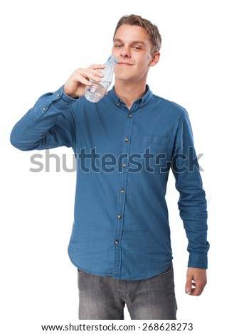 cool young-man with water bottle
