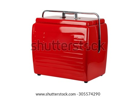 Cooler red vintage - stock photo