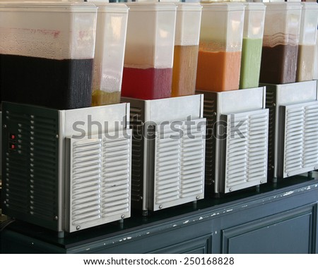 cooler with water juice - stock photo