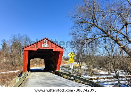 Cooley Covered Bridge in Pittsford, Vermont