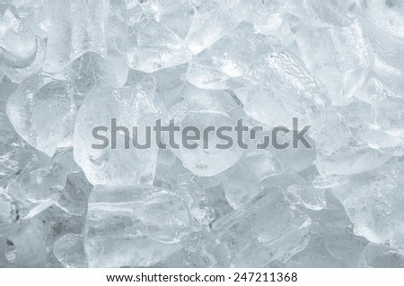 Cooling and lots of ice cubes. - stock photo