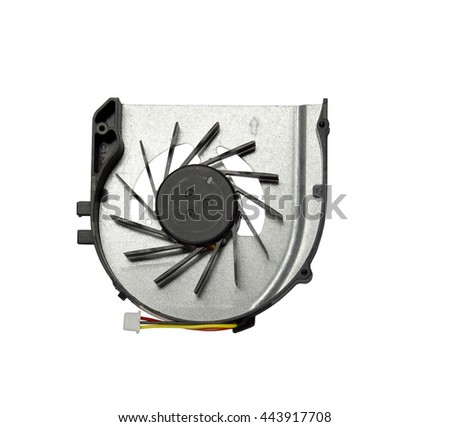 Cooling for notebooks plastic black isolated on white background - stock photo