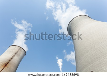 Cooling tower in power plant