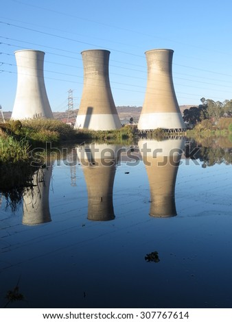 Cooling towers.
