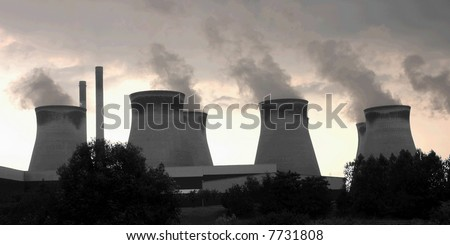 Cooling towers at a UK electricity power station