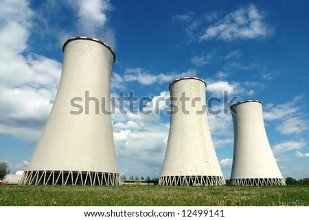 Cooling towers in power plant Detmarovice (Czech Republic)