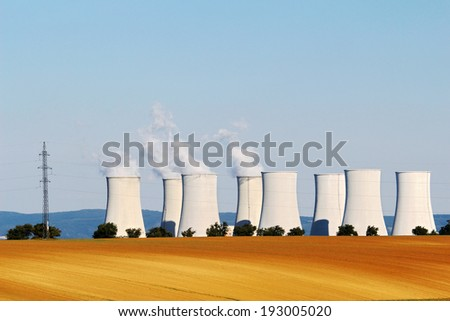 cooling towers of nuclear atomic power plant