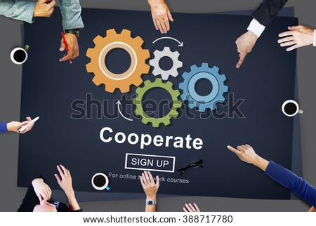 Cooperate Collaboration Team Cog Technology Concept