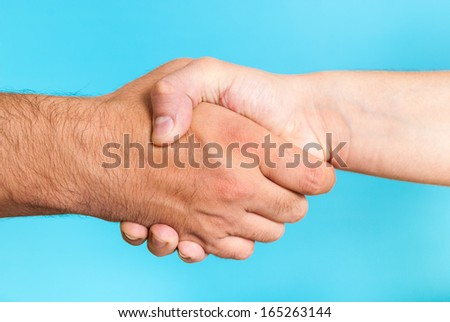 Cooperation agreement concept - stock photo