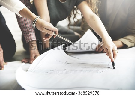 Cooperation Corporate Achievement Planning Design Draw Teamwork Concept - stock photo