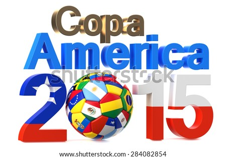 Copa America 2015 concept isolated on white background - stock photo