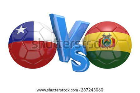 Copa America football competition, national teams Chile vs Bolivia - stock photo
