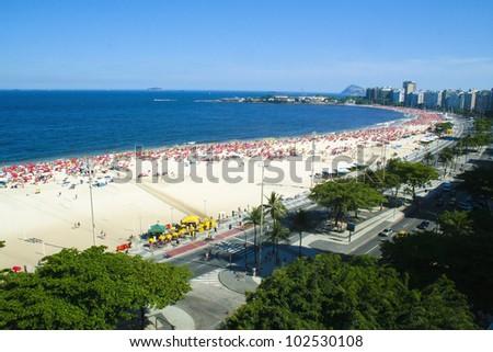 Copacabana Beach Rio de Janeiro - stock photo