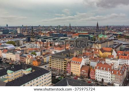 Copenhagen City, Denmark, Scandinavia. - stock photo