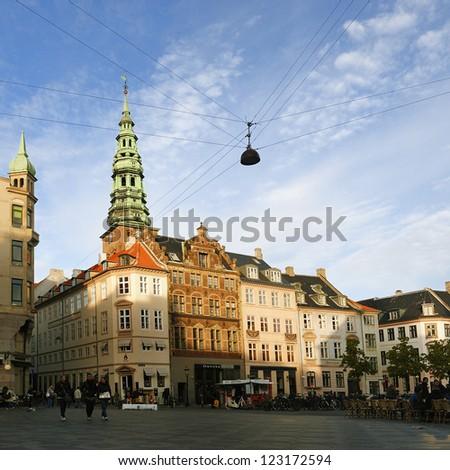 Copenhagen, Denmark. Amagertorv - stock photo