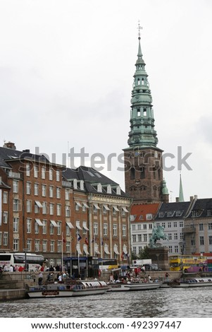 Copenhagen, Denmark, April 2, 2015. Views on Copenhagen, Denmark, April 2, 2015.