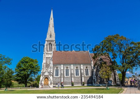 COPENHAGEN, DENMARK - JULY 25: St. Alban's Church was built from 1885 to 1887 for the English congregation in Copenhagen, Denmark July 25, 2014
