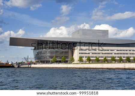 COPENHAGEN, DENMARK - MAY 29: Opera House one of the the most modern opera houses in the world on May 29, 2010 in Copenhagen, Denmark. It is located on the island of Holmen in central Copenhagen.