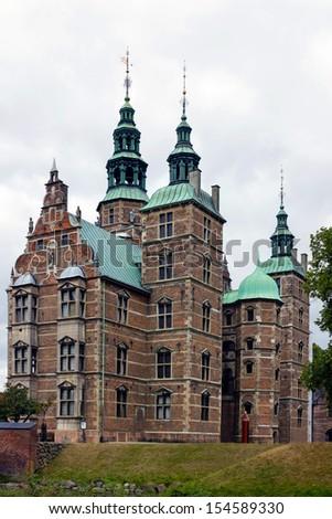 Copenhagen, Denmark: museum - castle Rosenborg.   - stock photo