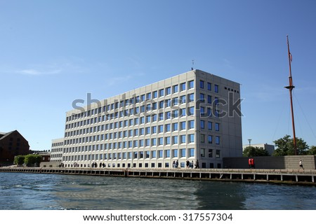 COPENHAGEN, DENMARK - SATURDAY, AUGUST 22, 2015: The headquarters of the Maersk company.  Maersk is the world's largest shipping lines. - stock photo