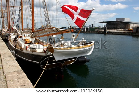 Copenhagen habor - stock photo