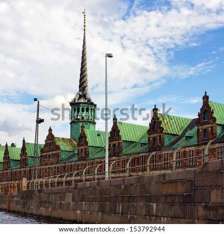 Copenhagen - historical building of Exchange, Denmark. - stock photo