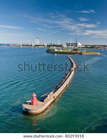 Copenhagen port - stock photo