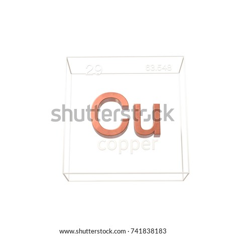 Copper chemical element atomic number atomic stock illustration copper chemical element atomic number and atomic weight chemical element of periodic table urtaz Images