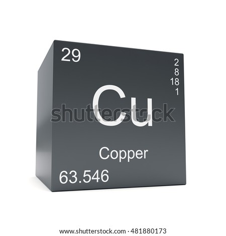 Copper chemical element symbol periodic table stock illustration copper chemical element symbol from the periodic table displayed on black cube 3d render urtaz Choice Image