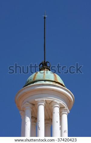 Copper dome with columns - stock photo