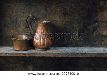 Old Antique Copper Jug Stock Images Royalty Free Images