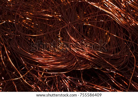 Copper Metal Scrap Copper Wire Stock Photo (Safe to Use) 755586409 ...