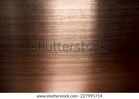 Copper metal scratched background texture - stock photo