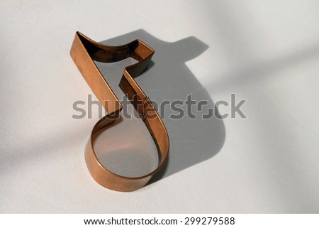 Copper Musical Note - stock photo