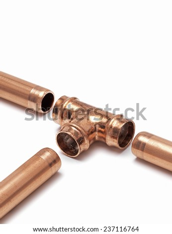 Copper pipe with joint