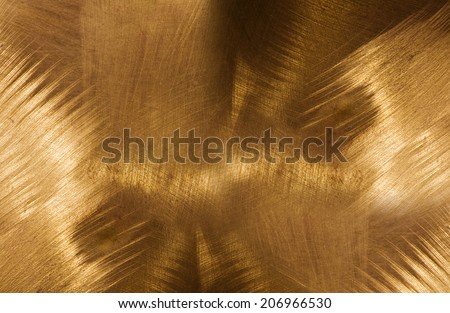 copper plate after processing grinders. - stock photo