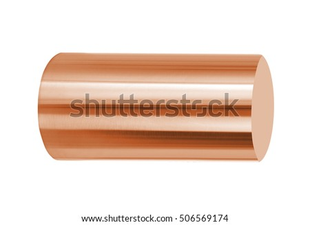 copper roll isolated on white background
