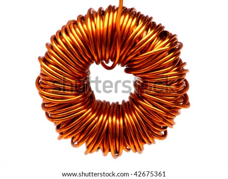 copper spool - stock photo