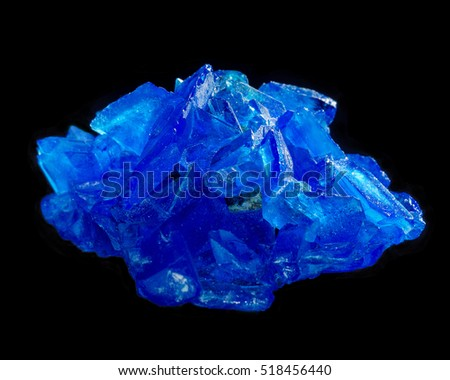 copper sulphate, or blue vitriol, on black