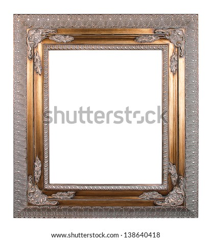 Copper vintage frame isolated on white background - stock photo