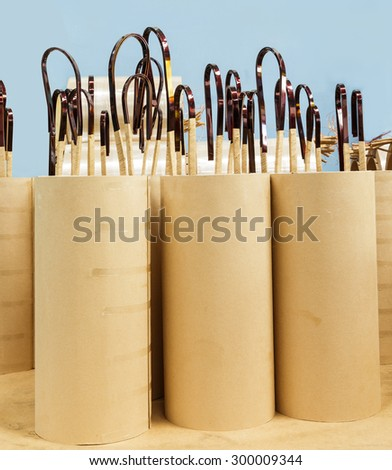 Copper wire coil with insulator for electric transformer - stock photo