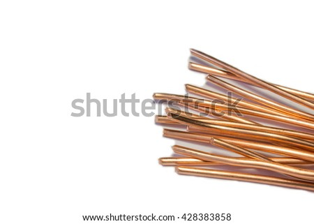Copper wire concept of industry development and market of raw materials.