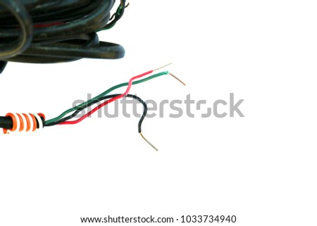 Copper Wire Insulated Copper Wire Isolated Stock Photo (100% Legal ...