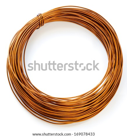 Copper Wire Isolate On White Background Stock Photo (Edit Now ...