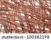 copper wire symbol of intelligent network - stock photo