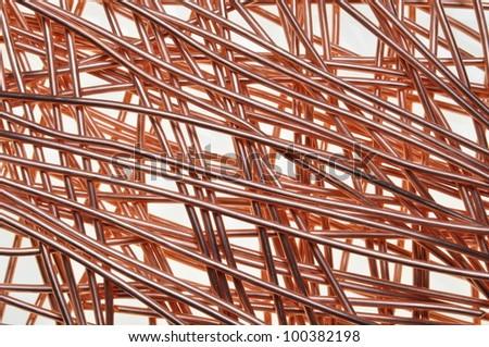 copper wire symbol of intelligent network - stock photo
